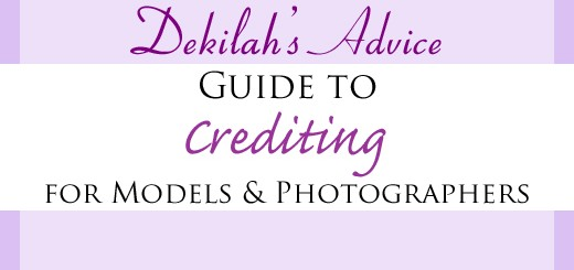 Dekilah's Guide to Crediting for Models and Photographers